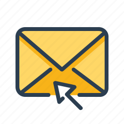 click, cursor, email, envelope, letter, mail, message icon