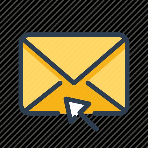 click, cursor, email, envelope icon