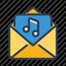 ads, audio, email, envelope, marketing, message, sound icon