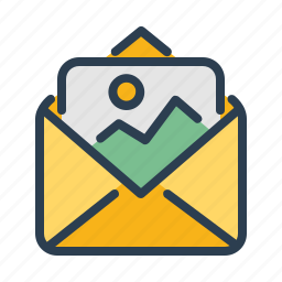 advertising, email, envelope, marketing, message, photo, picture icon