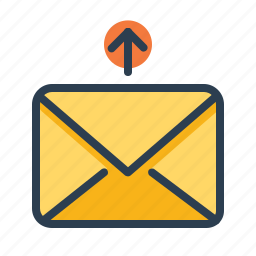 arrow, email, envelope, letter, message, send, up icon