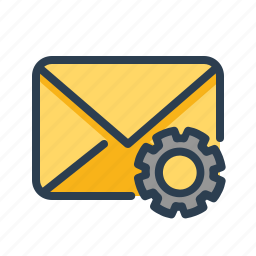 email, envelope, letter, mail, message, options, setting icon