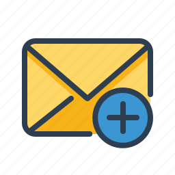 compose email, envelope, letter, mail, message, new, plus icon