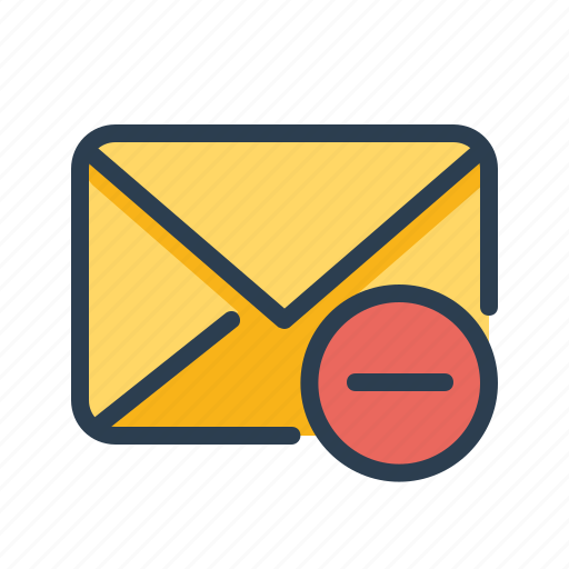 email, envelope, minus, remove icon
