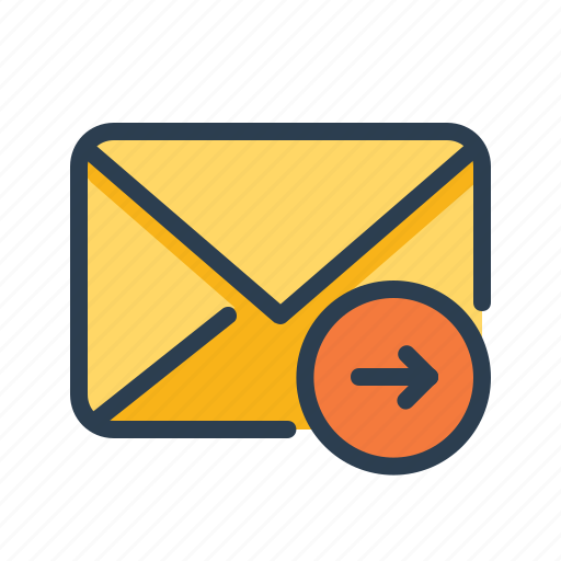 arrow right, email, envelope, forward, mail, move, send icon