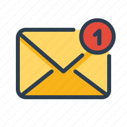 email, envelope, letter, mail, message, new, notification icon