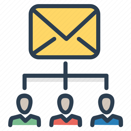 alias, contact list, email, mail, recievers, subscribers, subscription list icon