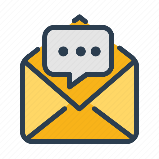 chat, comment, email, message icon