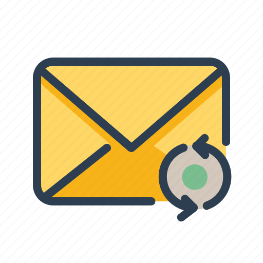 email, envelope, mail, message, refresh, sync, update icon