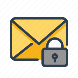email, envelope, lock, mail, message, private, protected icon