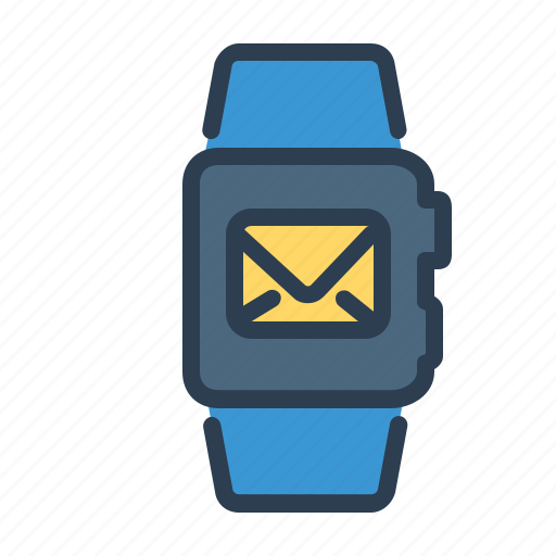 email, envelope, letter, mail, message, smart wrist, watch icon