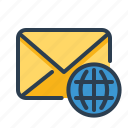 email, globe, international, language icon