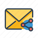 alias, email, mail, network, online, share, sharing icon