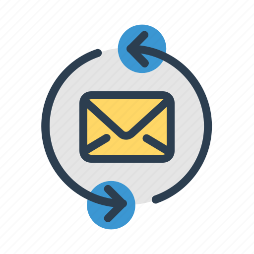 arrows, email, envelope, mail, message, refresh, sync icon