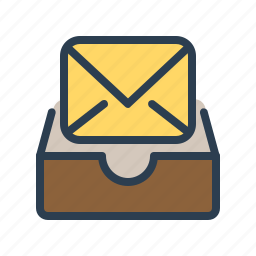 archieve, drawer, email, envelope, inbox, letter, mail icon