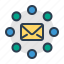 communication, email, envelope, social network icon