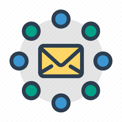 communication, email, envelope, letter, mail, message, social network icon