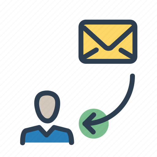 account, email, envelope, get email, letter, mail, recieve icon