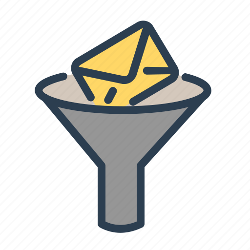 email, envelope, filter, funnel, letter, mail, search options icon
