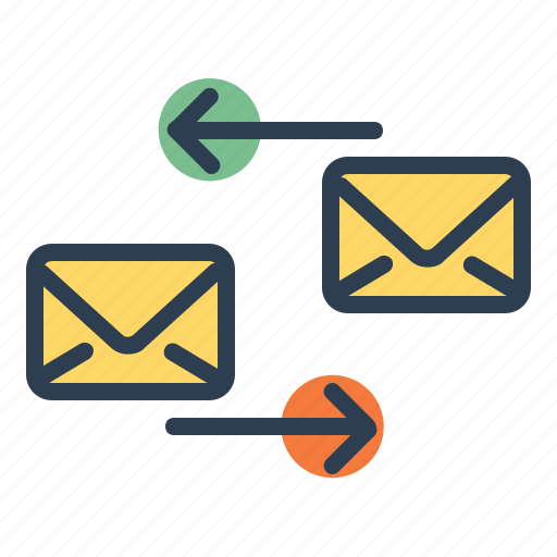 communication, conversation, email, reply, send icon