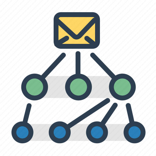 email, envelope, hierarchy, workflow icon