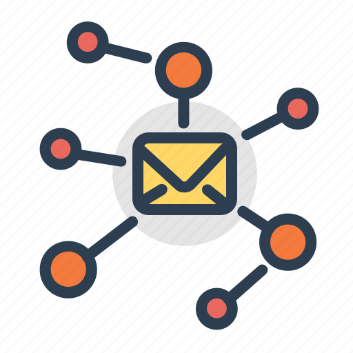 connections, email, envelope, hierachy icon