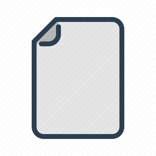document, empty, extension, file, format, page, sheet icon