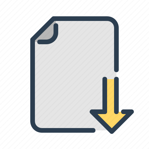 document, download, file, page icon