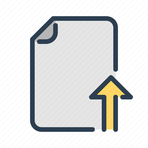 arrow, cloud, document, file, share, up, upload icon