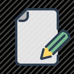 compose, document, edit, file, page, pencil, write icon