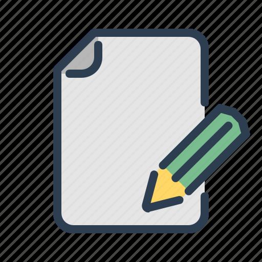compose, document, pencil, write icon