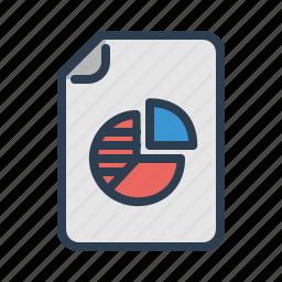 analytics, diagram, document, earnings, file, pie chart, statistics icon