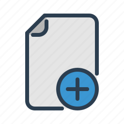 add, document, edit, file, note, page, plus icon