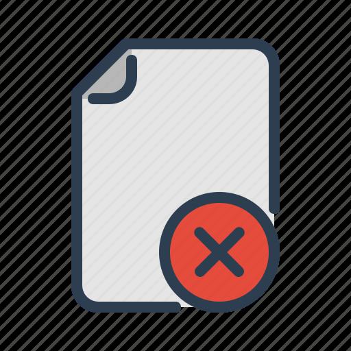 cancel, delete, document, edit, file, page, remove icon