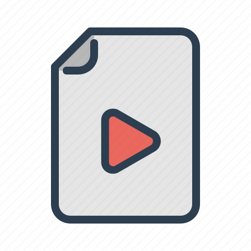 avi, document, file, format, movie, page, video icon