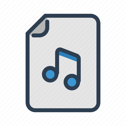 audio, document, file, format, mp3, music, page icon