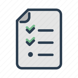 checklist, document, file, page, planning, tasks, todo list icon