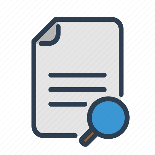 document, find text, scan, search file icon