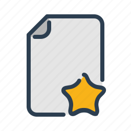 bookmark, document, favourite, file, format, page, star icon