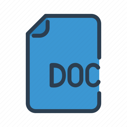 Word, extension, doc, document icon