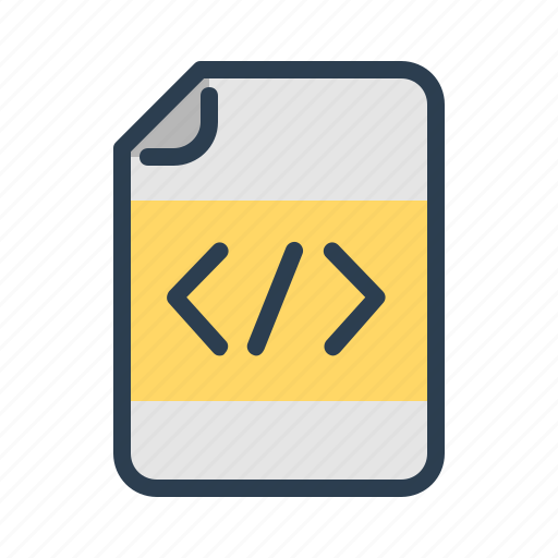 clean code, coding, document, programming icon