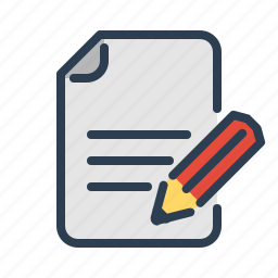 compose, document, edit, file, pencil, text, write icon