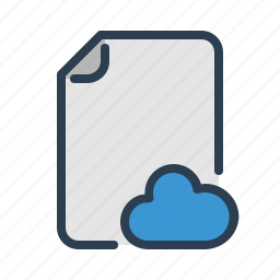 cloud, document, file, network, page, share, sharing icon