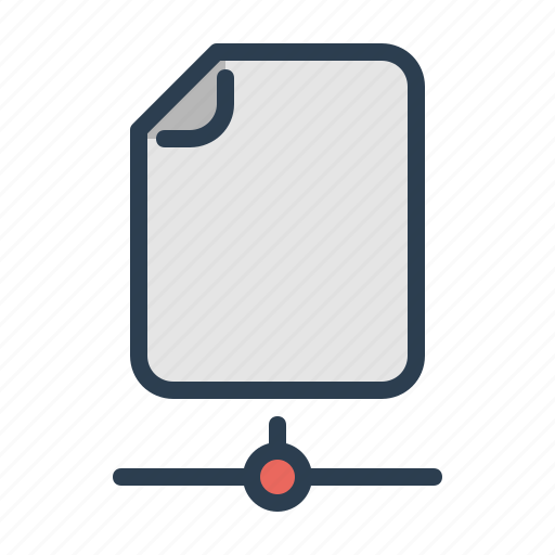 document, online, page, share icon