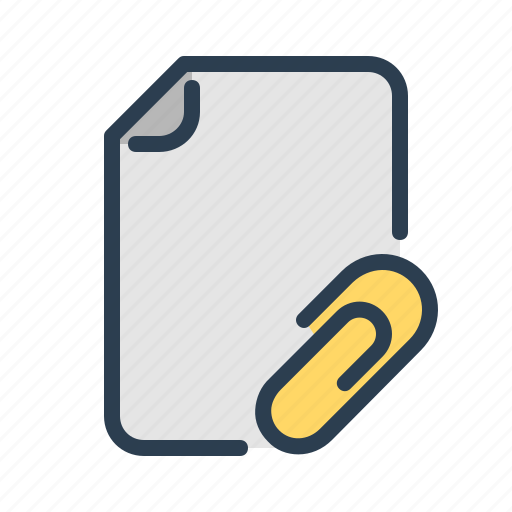 attach, attachment, document, fastener, file, format, page icon