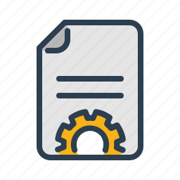 blog, content management, copywriting, development, document, file, gear icon
