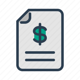 budget, check, document, dollar, file, invoice, sales report icon