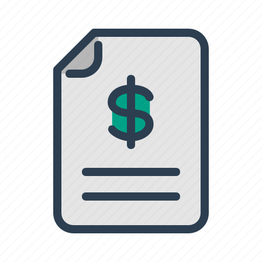 budget, document, file, invoice icon