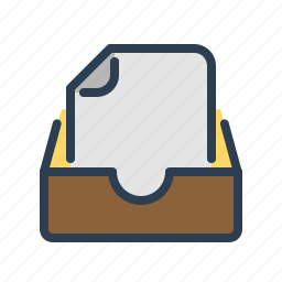archieve, document, documentation, drawer, file, folder, page icon