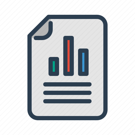 analytics, business analysis, chart, document, file, sales report, statistics icon
